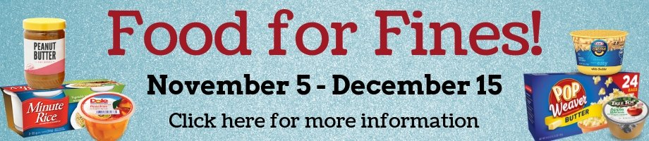 Food For Fines Program, Nov. 5th to Dec. 15th